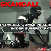 SCANDAL! PERVERSE RUBBER PISSING IN THE SUPERMARK LOW GARAGE!
