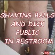 SHAVE MY BALLS AND WANK DICK IN PUBLIC PART 1