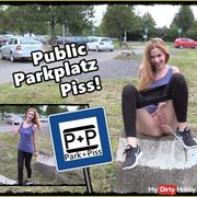 Public piss on the parking lot!