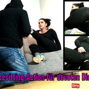 Facesitting action for submissive servants