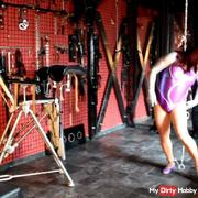Handcuff set self-tie in sportdress