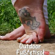 Outdoor Fußfetisch