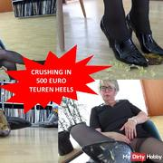 Crushing in 500 euro expensive heels