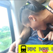 Blowjob in the train