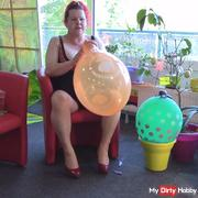 Orange balloon burst during inflation!