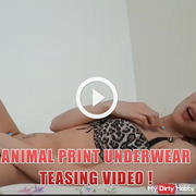 Animal print underwear teasing video !