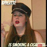 Brigitte smoking a cigarette