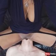 Facesitting, his tongue deep into my pussy and my ass