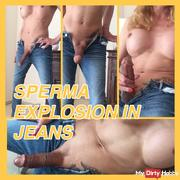 TSXXL-ANGEL23X6 SPERM EXPLOSION IN JEANS