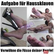 Task for House Slaves - Spoil Your Feet feet!