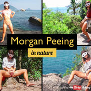 Morgan Peeing in Nature