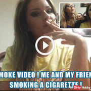 Smoke video ! Me and my friend smoking a cigarette !