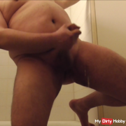 In the bathroom properly by wanked and horny hosed
