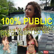 100% PUBLIC .PISSING IN SWIMMING POOL YOU NEVER GLEUBST NEVER !!