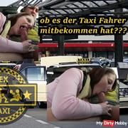 Almost caught !!! Prohibited blowjob Quickie in the taxi