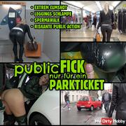 Public fuck for a parking ticket | Risky SPERMWALK