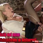 Horny and wet fucking in the restaurant!