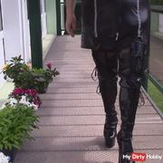 Lacquer boots make the terrace shake !! Part 1