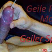 Horny solo penis massage with horny splash / haemba