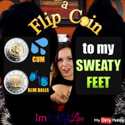 SNIFF my SWEATY FEET & Flip a Coin to Cum...or Not!