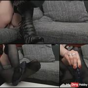 My first footjob video