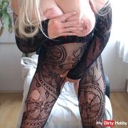 Squirt in catsuit