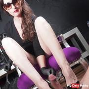 Horny high heels cock games and a forbidden ruined orgasm