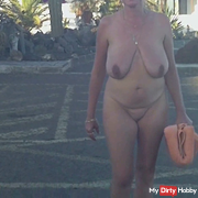 Naked on the street