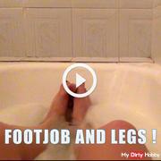 footjob and legs !