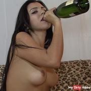 Champagne and masturbation
