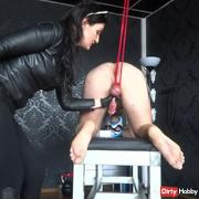 Slave Paul gets milked - handjob and CBT