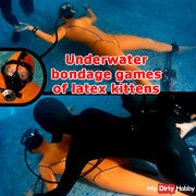 Underwater bon**** games of latex kittens