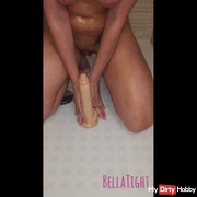 Fucked with very thick dildo
