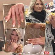 Honey candy fingernails