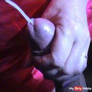 Silk dress splashed - big load cumshot