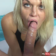 Simona gets cock deeper in throat