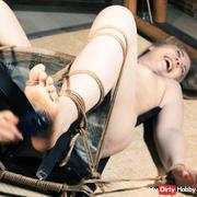 Ticklish for tied up Olga
