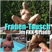 Women exchange in nudist holidays