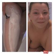 Shave fetish: legs