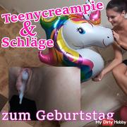 Teencreampie & blows, for a birthday!