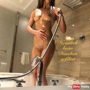 Secretly filmed while showering