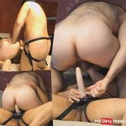 Pegging: He gets Fucked in the Ass with a Strap-on by wife