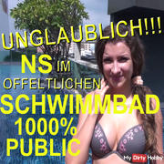 INCREDIBLE! NS IN PUBLIC SWIMMING POOL 1000% PUBLIC