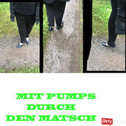 With pumps through the mud