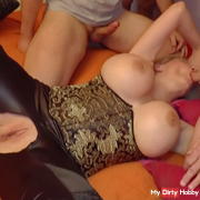12 horny guys fuck and inseminate me