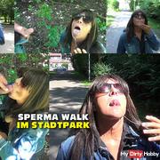 Sperma walk in the city park