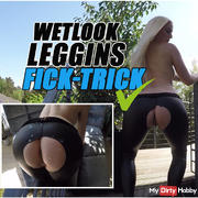 WETLOOK-LEGGINS-FICK-TRICK | THERE'S THE BOY SPLASHING MIGHTY! | LUCY CAT