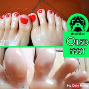 Oil on my feet