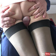 366 Your biggest cumshoot on my nylon sniny legs