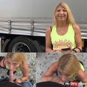 RISKANTER PUBLIC BLOWJOB FOR GEILEN TRUCKER